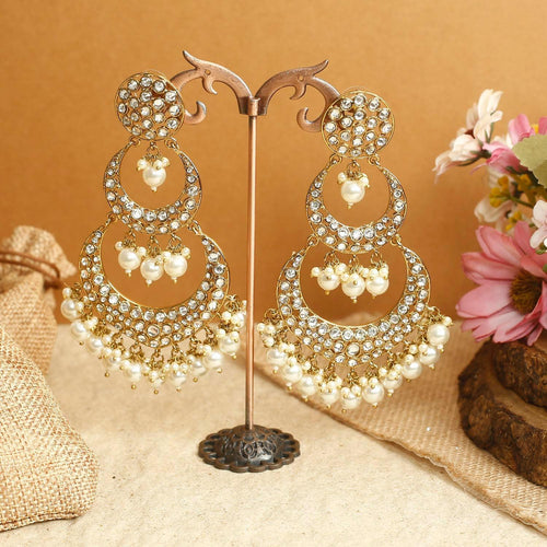 Golden Layered Chaandbali Earrings