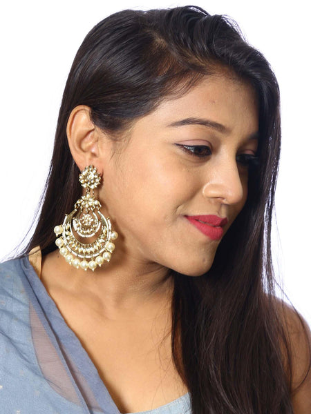 Golden Mumtaz Designer Earrings