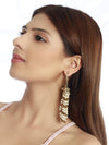 Golden Pearl Tassel Earrings