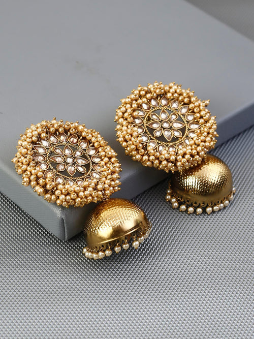 Golden Pearla Designer Earrings