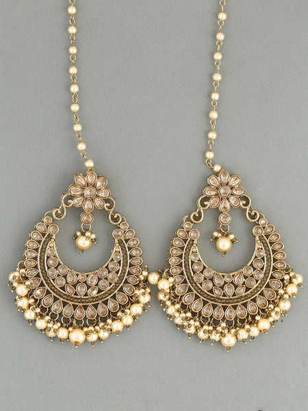 Golden Rubina Designer Earrings