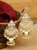 Golden Yashasvi Designer Jhumki Earrings