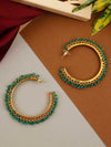 Green Ira Hoop Earrings