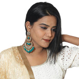Green Layered Chaandbali Earrings