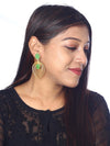 Green Pankh Designer Earrings