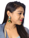Emerald Rudra Designer Earrings