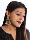 Grey Ganeshi Designer Ethnic Earrings