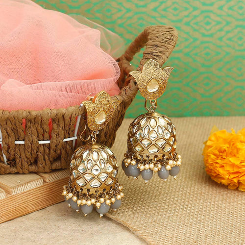 Grey Mohini Designer Earrings
