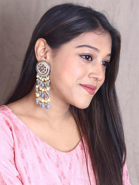 Grey Panchali Designer Earrings