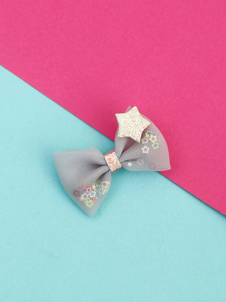 Grey Star Hair Pin