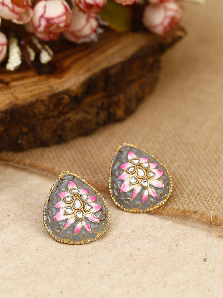 Grey Balin Ethnic Studs