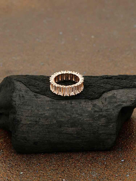 Rose Gold Hastika Zirconia Ring