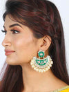 Emerald Kalpesh Chaandbali Earrings