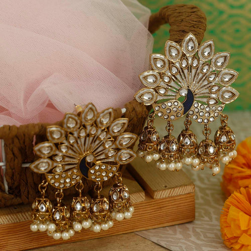 Ivory Mayur Wedding Jewellery Designer Earrings - Bling Bag