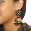 Jet Bubble Designer Ethnic Earrings - Bling Bag