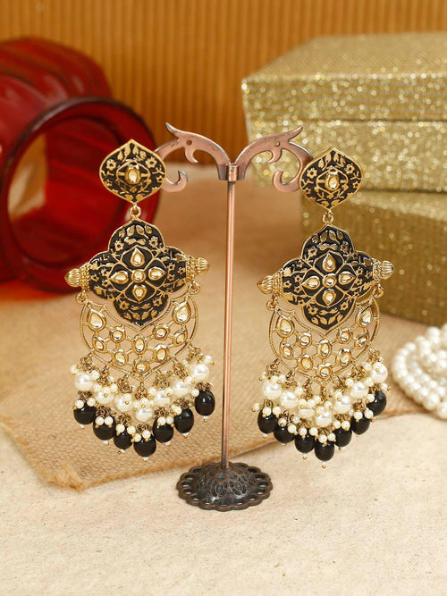 Jet Tanya Designer Earrings