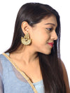 Lakshmi Sarovar Gold Plated Temple Earrings