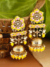 Lemon Fulwari Jhumki Earrings