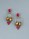 Magenta Damru Designer Earrings