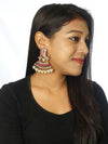 Magenta Ganeshi Designer Ethnic Earrings