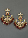 Maroon Rohini Designer Earrings