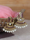 Maroon Ganeshi Designer Ethnic Earrings