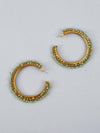 Mint Ira Hoop Earrings