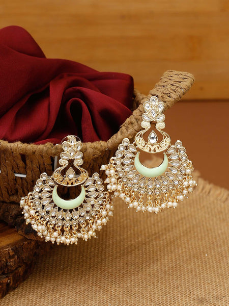 Grey Chandrachakra Designer Earrings