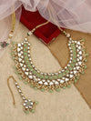 Mint Green Triveni Necklace Set