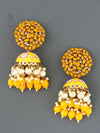 Mustard Daliha Jhumki Earrings