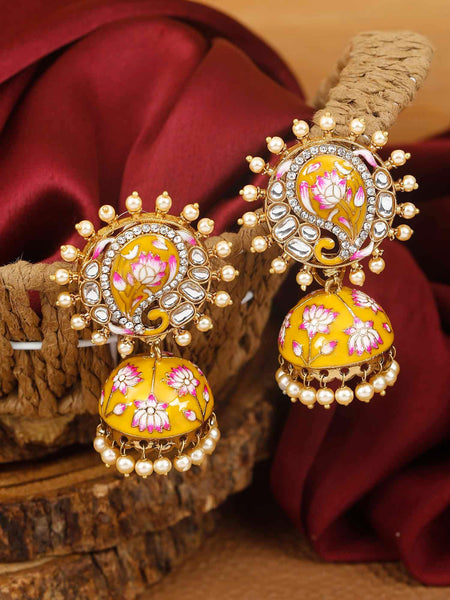 Mustard Keri Designer Earrings