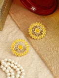 Yellow Suman Flower Studs