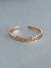 Rose Gold Kada Adjustable Name Bracelet