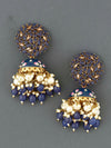 Navy Daliha Jhumki Earrings
