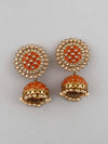 Orange Suraj Jhumki Earrings