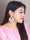 Orange Chandrachakra Designer Earrings