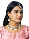 Peach Anagha Kundan Necklace Set