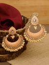 Peach Dhairya Designer Earrings