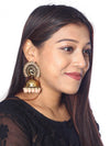 Crepe Mayu Jhumki Earrings