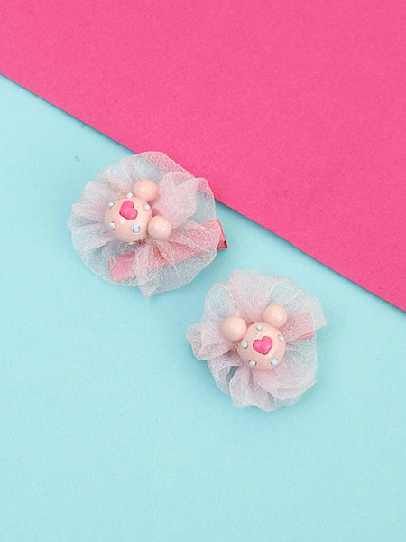 Peach Mickey Hair Pins