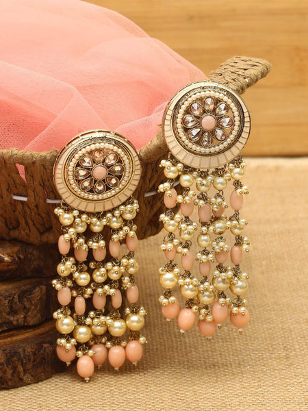 Beige Ahuti Designer Earrings