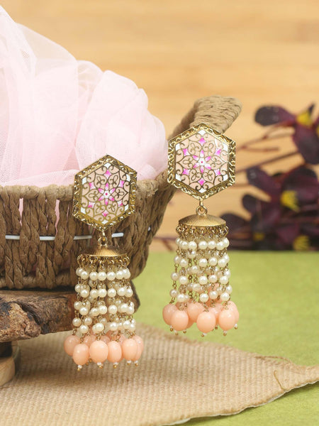 Milky Ridge Designer Earrings