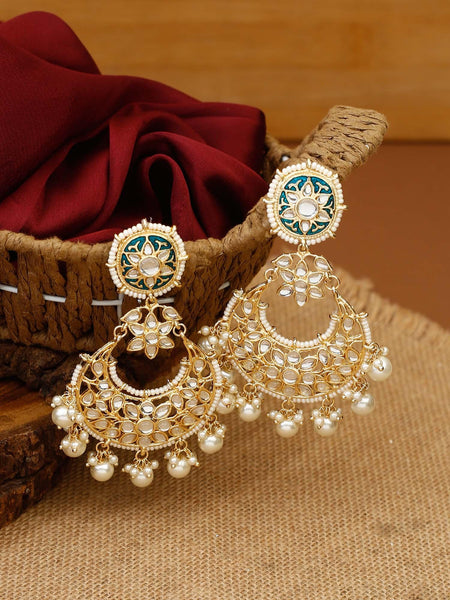 Yellow Kartiki Chandbali Earrings