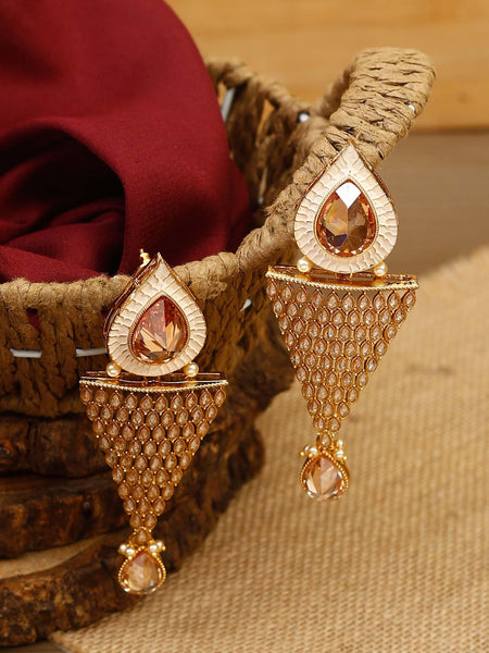 Pesca Shanku Crystal Designer Earrings