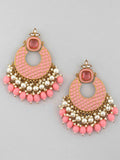 Pink Keladi Designer Earrings