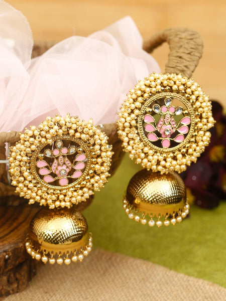 Neon Pink Boond Designer Earrings