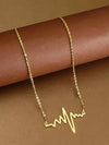 Golden Pulse Designer Pendant Name Necklace