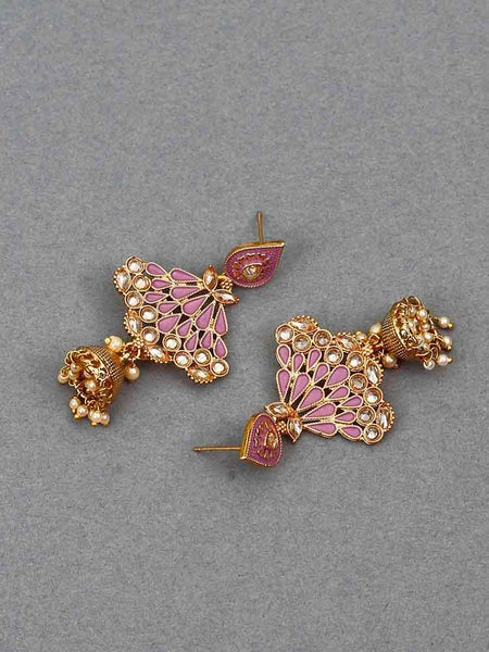 Purple Nitara Jhumki Earrings