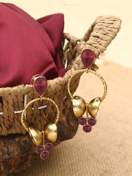 Rani Damru Designer Earrings