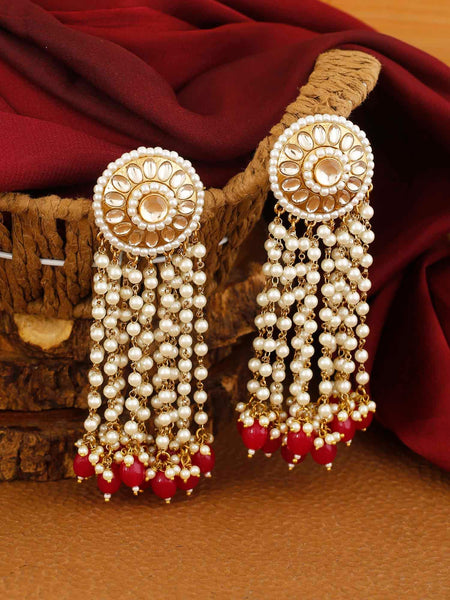 Red Heer Designer Earrings